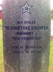 Eit krigsminnesmerke på Stemshaug kyrkjegard
