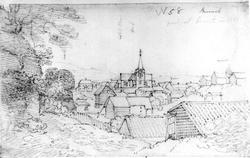 """BrevikFra skissealbum av John W. Edy, """"Drawings Norway 1800"""