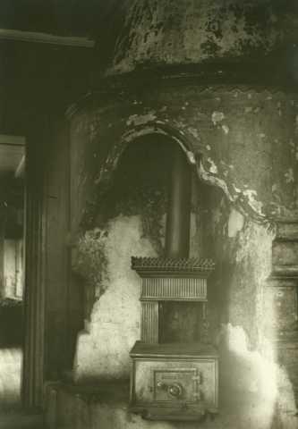 Peis og ovn, Trønnes, Stor-Elvdal, Hedmark. Fotografert 1916.