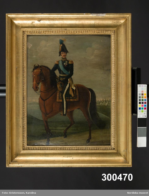 Ryttarporträtt, ryttaren Karl XIV Johan eller hans son Oscar I.