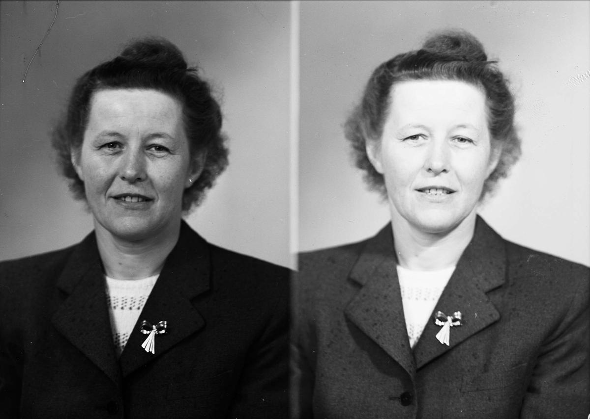 Ateljéporträtt - Dagmar Hammarling, Uppsala 1952