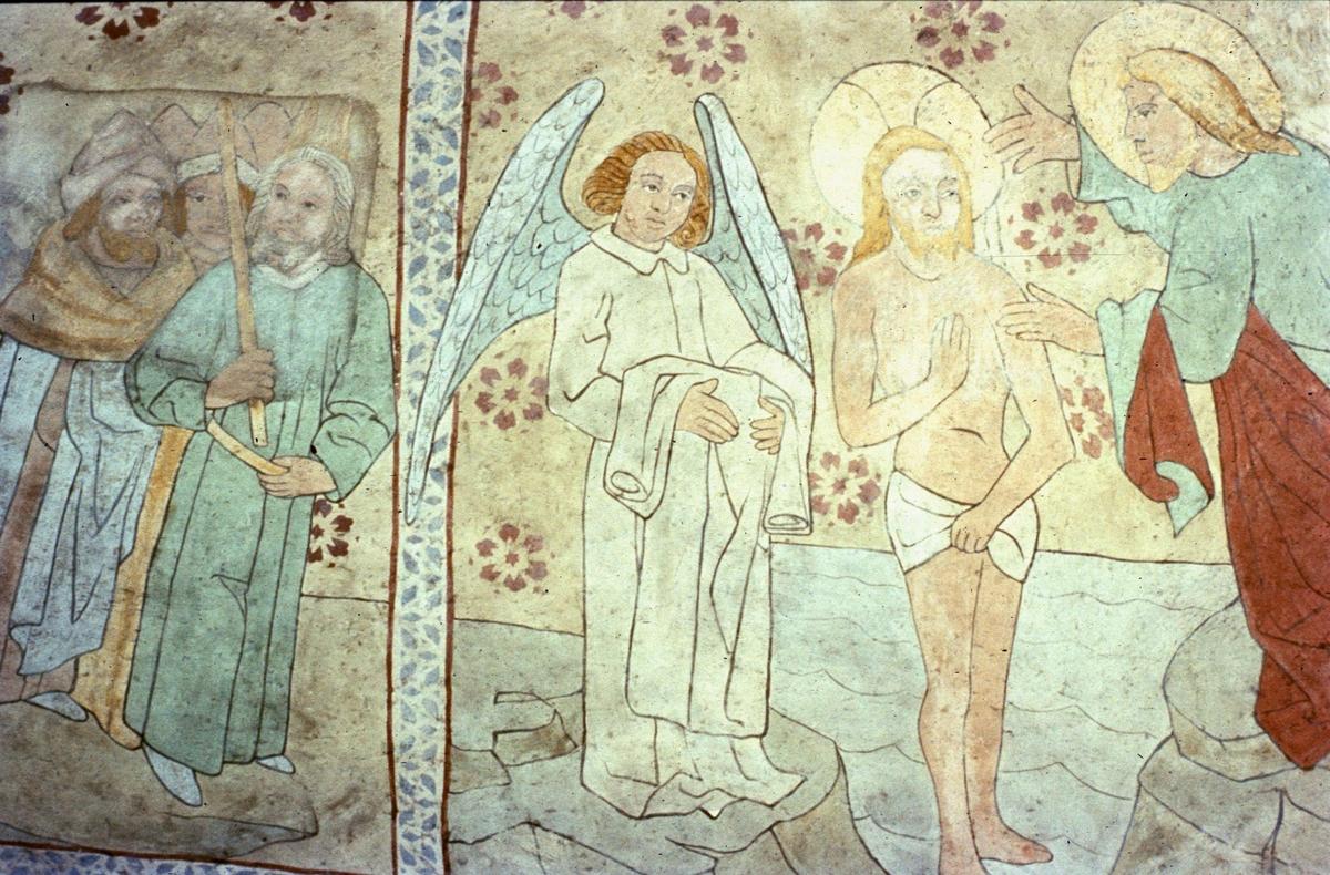 Kalkmålning i Danmarks kyrka, Uppland 1957