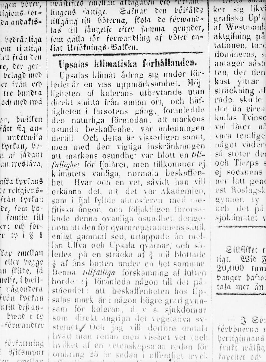 """Tidningen Upsala - """"Roliga annonser och dylikt reproducerade"""", Uppsala 1956"""