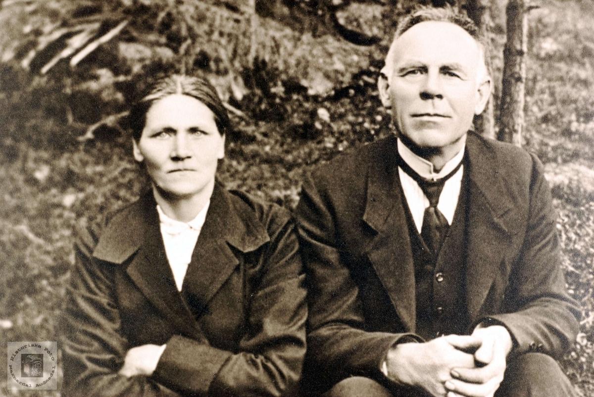 Ekteparet Anna Grindheim og Olaf Brandsdal.