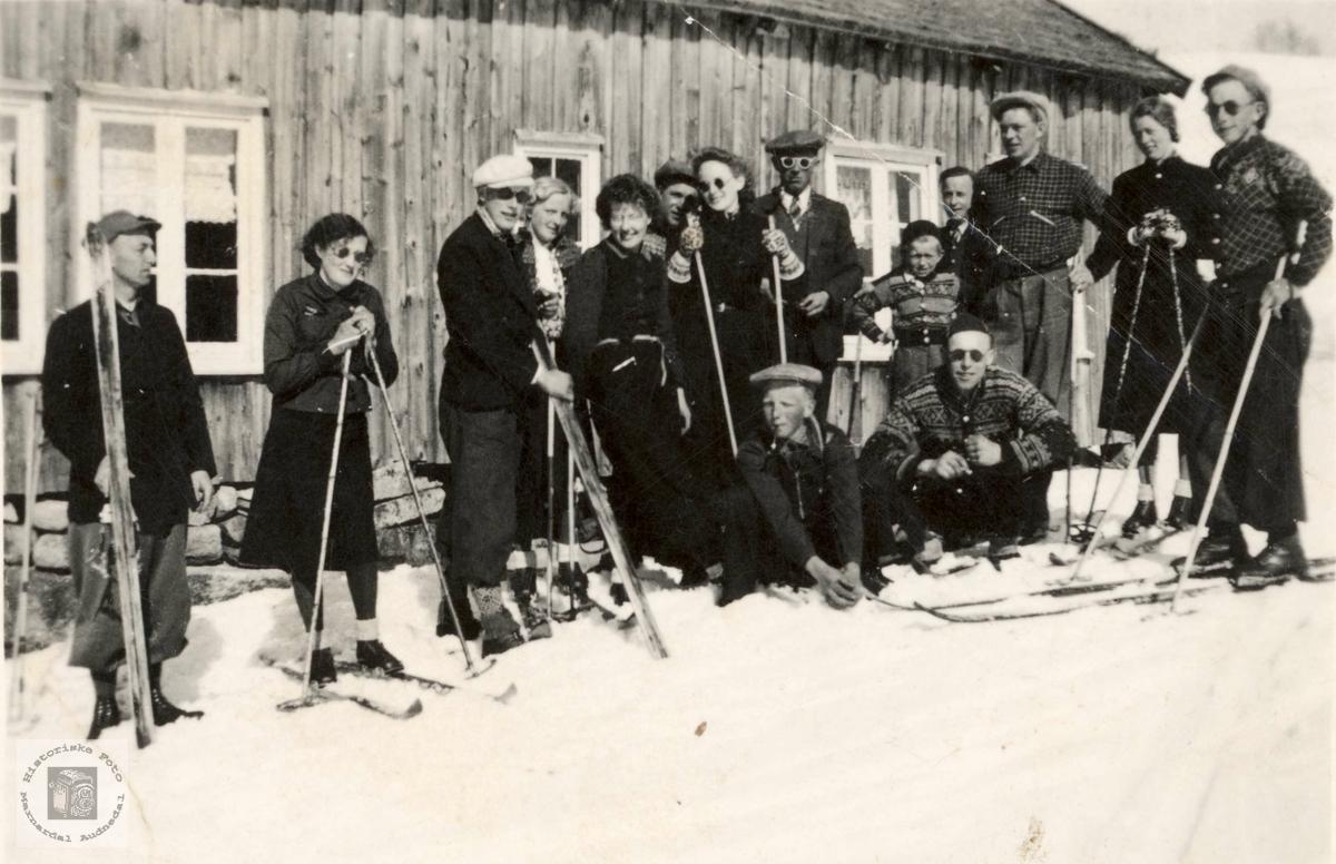 Skitur i Audnedal.