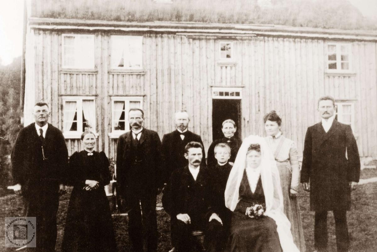 Bryllup på Mosland. Audnedal.