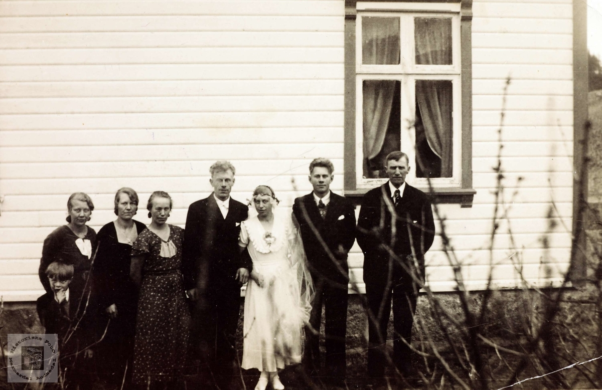 Bryllup på Iveland Konsmo Audnedal.