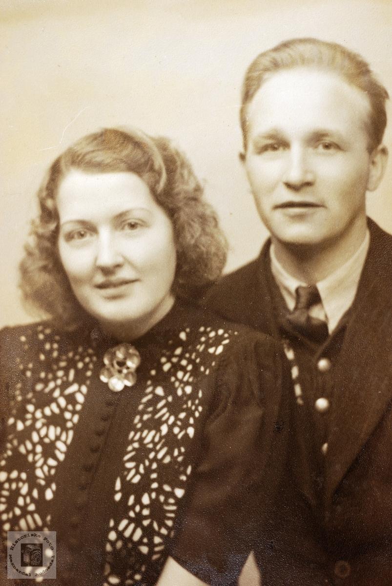 Portrett av Nora og Olav Ask. Grindheim.