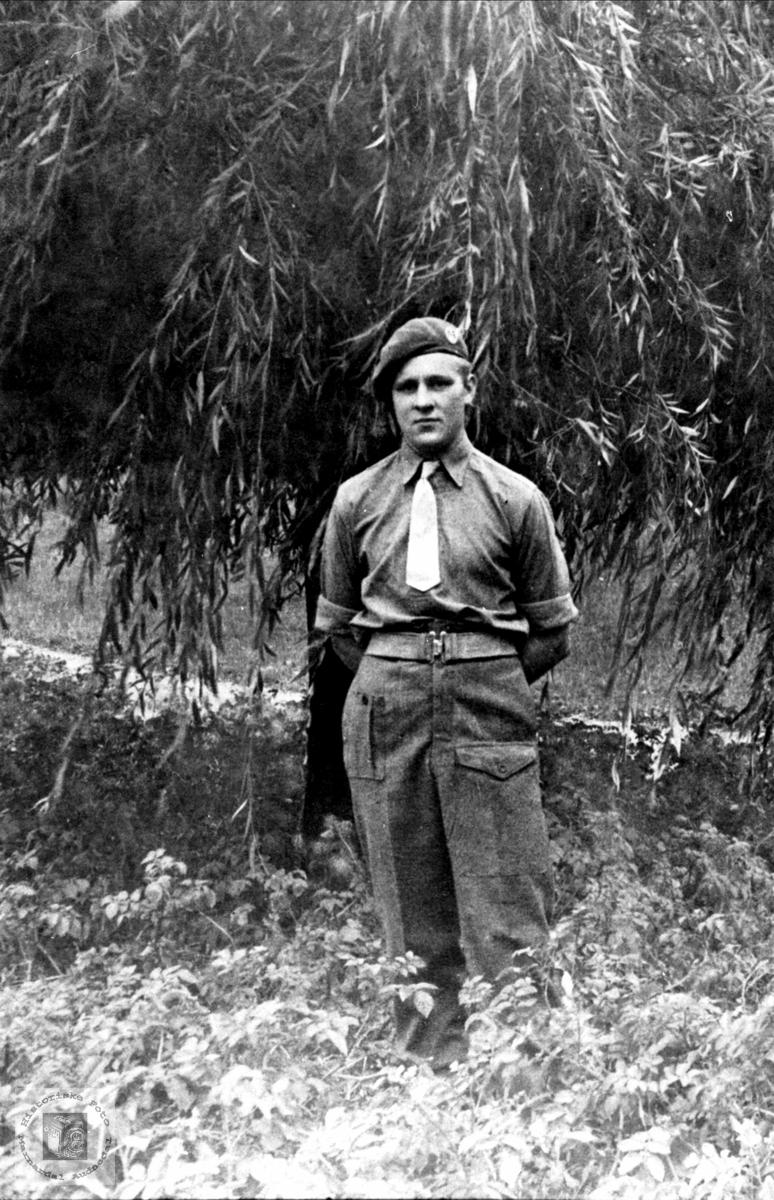 Søren Haraldstad i Tysklandsbrigaden. Bjelland.