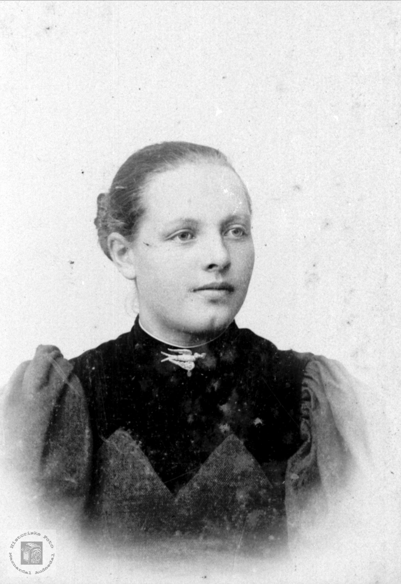 Portrett av Olevine Bruskeland, Laudal.