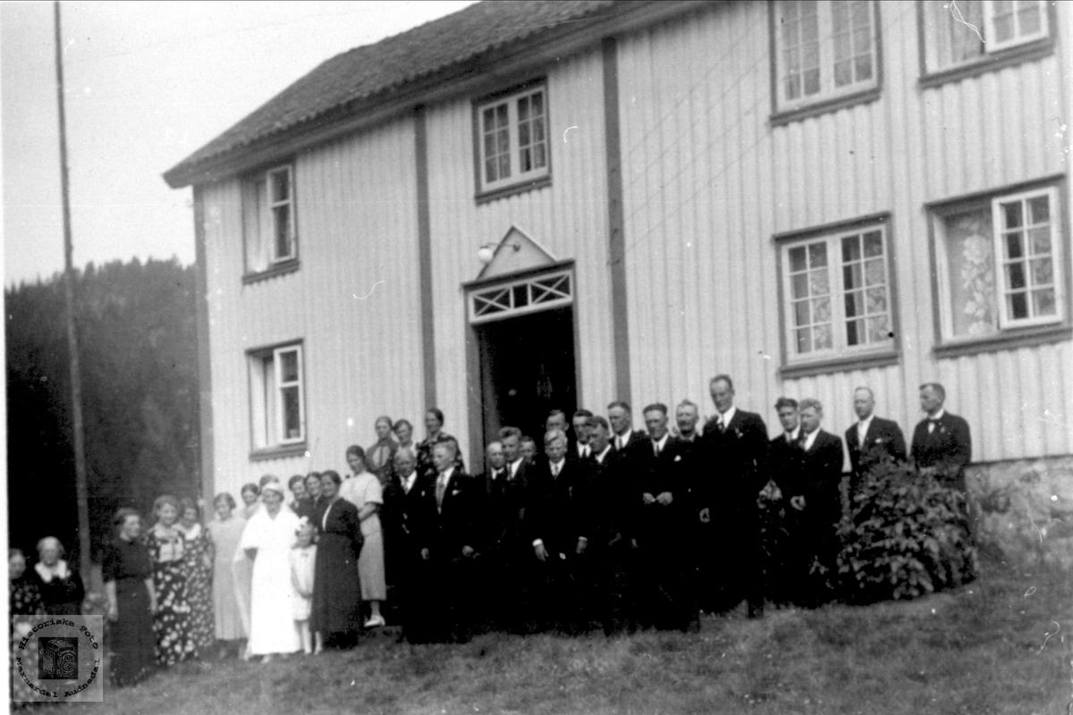 Bryllupet til Guvor og Søren Manflå i Sundet, Bjelland.