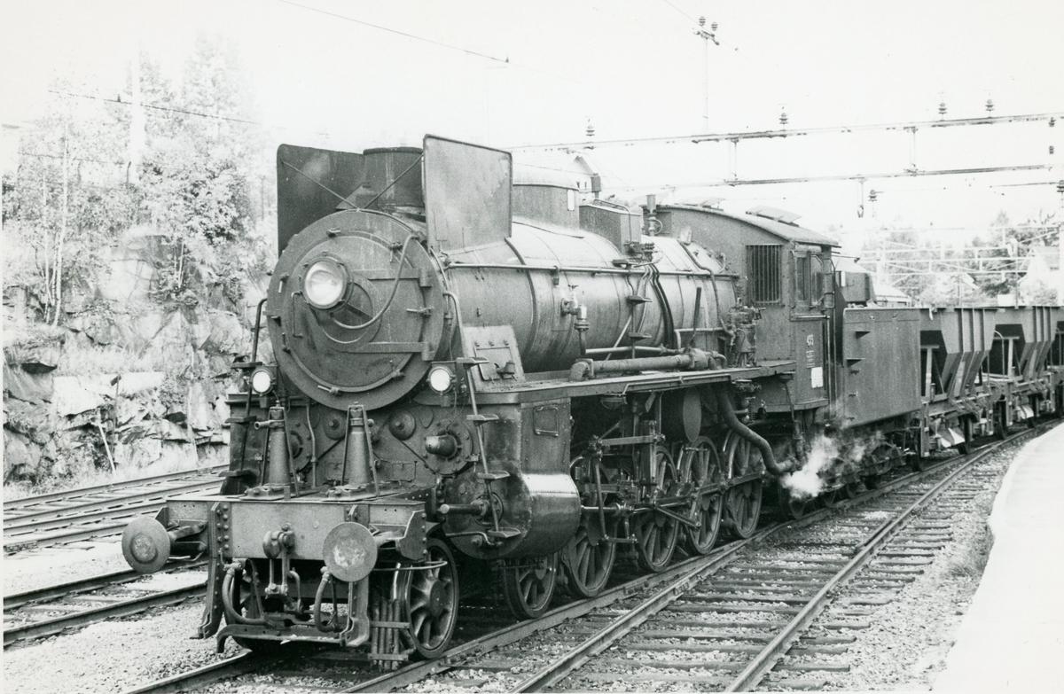 Grustog på Randsfjordbanen trukket av damplok type 26c nr. 435.