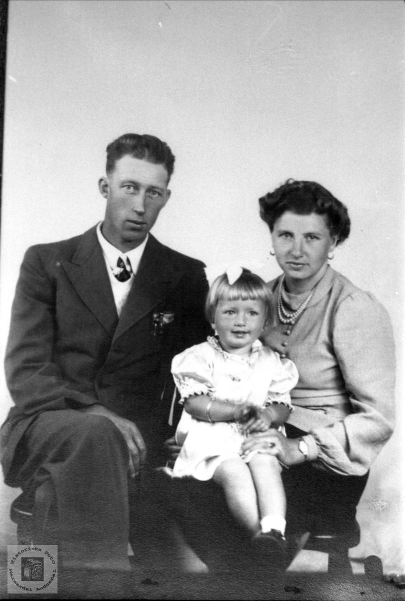 Familien Arne Godfred Gustavsen.