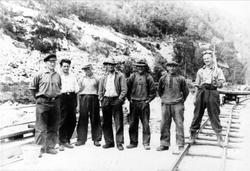 Anleggsarbeidere i Voan 1936. Øyslebø.