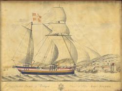 Galeas-Skibet 'Anna' af Bergen [Akvarell]
