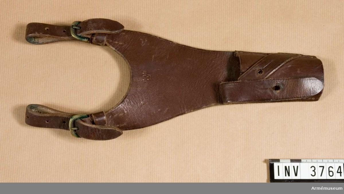 Bajonetthylsa.Hylsa av läder t knivbajonett m/1896. För officerare på 1930-talet.