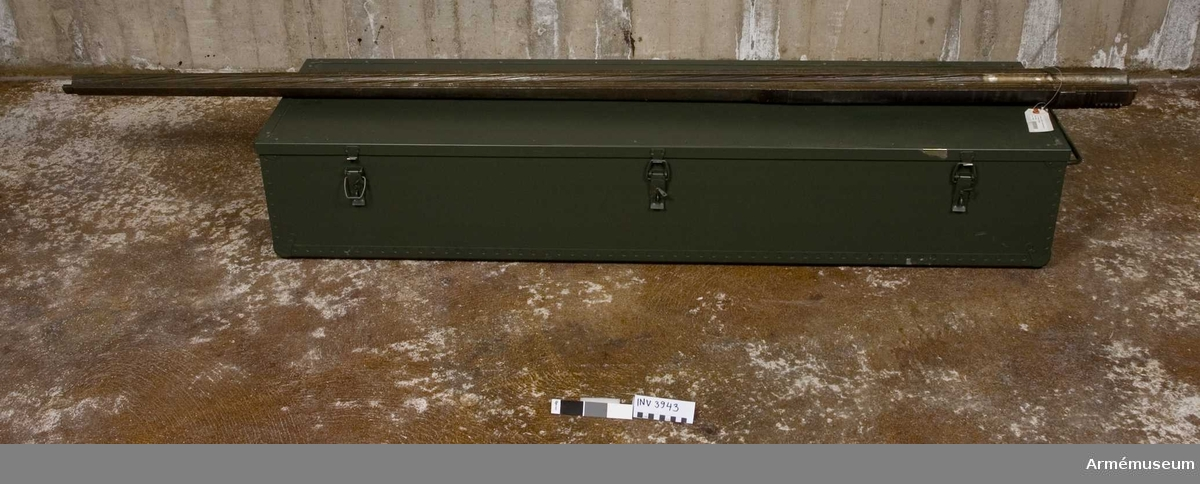 Märkt 40 mm akan m/36 P (119) m/36 P: svensk eller polsk tillverkning.
