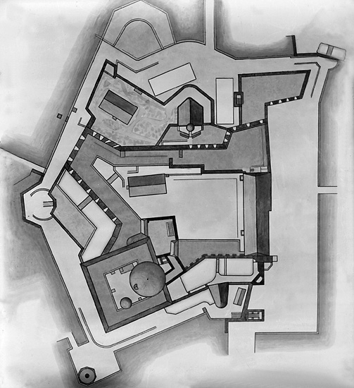 Plankarta över Carlstens fästning, Marstrand