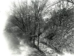 Vägen till S:t Erik, vägen till Svartedammen, våren 1926.