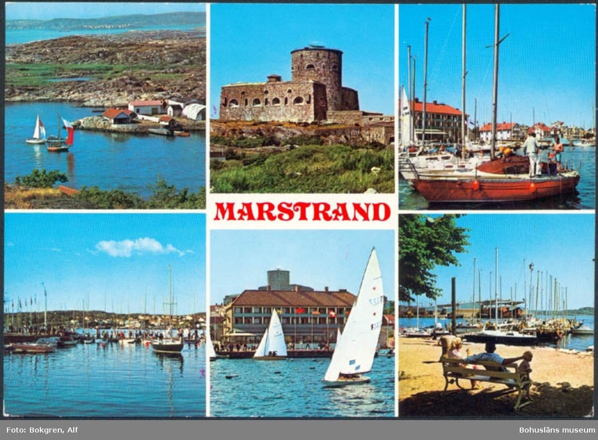 """Tryckt text på kortet: """"Marstrand.""""  ::"""