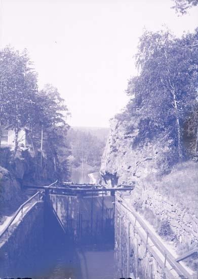 """Gamla Slusslinien Trollhättan 27 maj 1901."""
