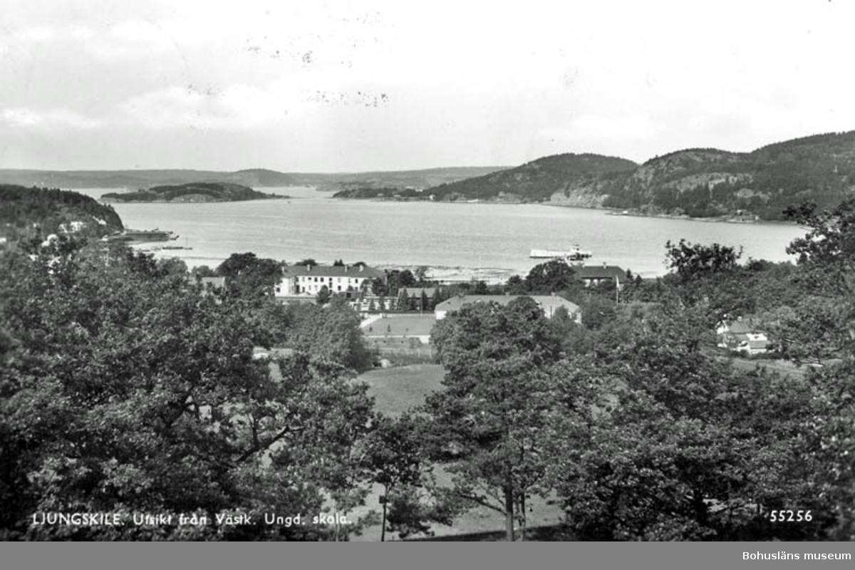 Ljungskile. Utsikt från Västk. Ungd. skola.