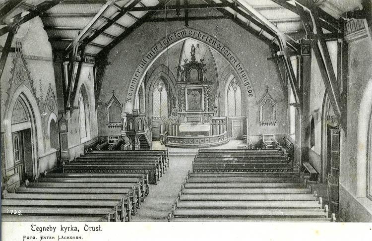 Interiör Tegneby kyrka