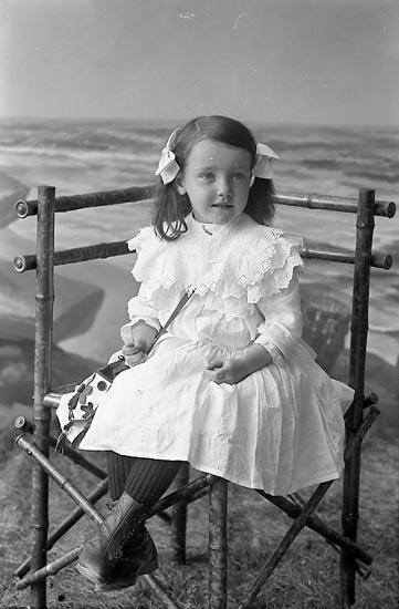 """Enligt fotografens journal nr 1 1904-1908: """"Johansson Hedda Tjäderöd Svenshögen""""."""