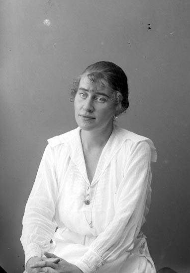 """Enligt fotografens journal nr 4 1918-1922: """"Fellenius, Fru Margot Ön""""."""