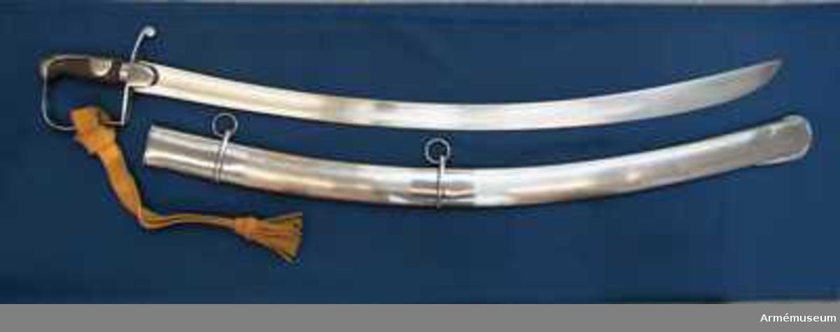Grupp D II. Balja m/1783 till sabel för lätt kavalleri, England.