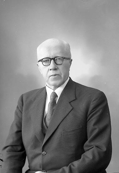 """Enligt fotografens journal nr 9 1958-: """"Brunander, Kyrkoherde Teodor, Myckleby, Svanesund""""."""