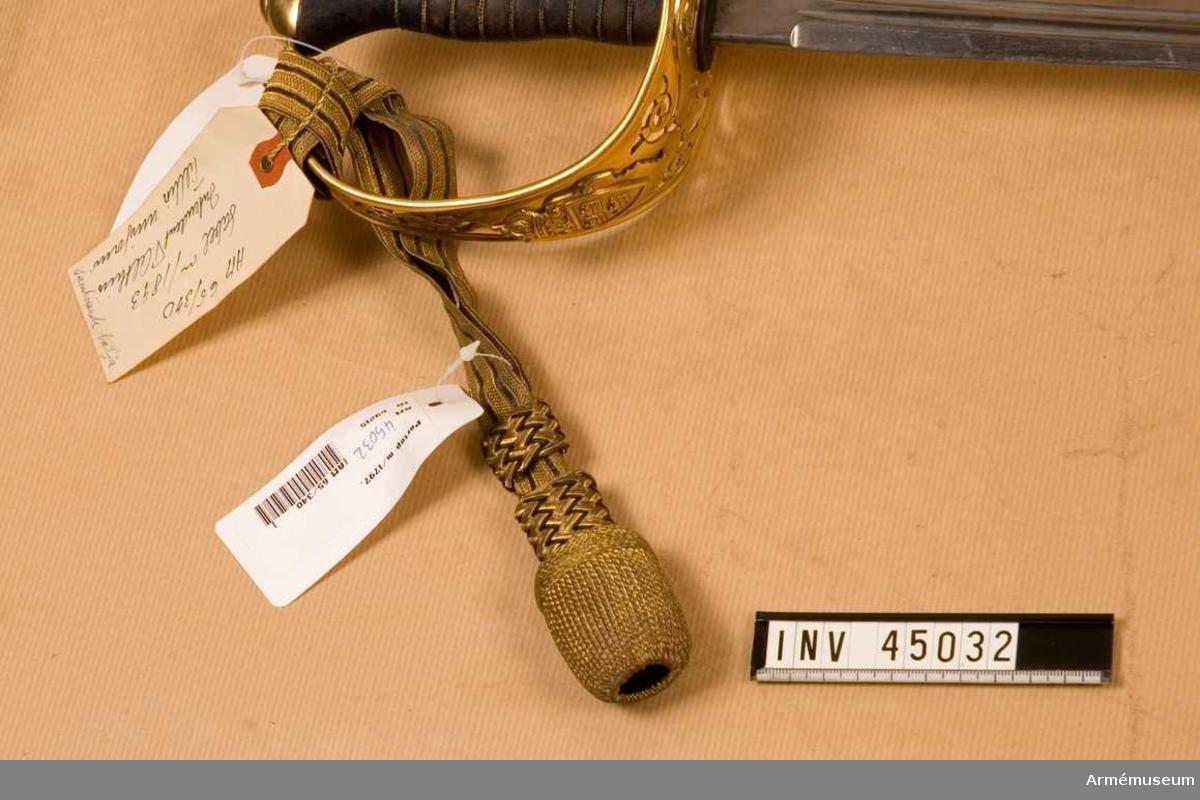 Grupp D II. Tillhör uniform AM 44711-6.Anskaffad 1917?