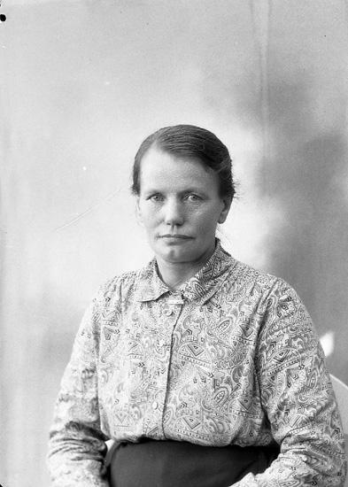 "Enligt fotografens journal nr 5 1923-1929: ""Andersson, Fru Mathilda, Låka, Höviksnäs""."