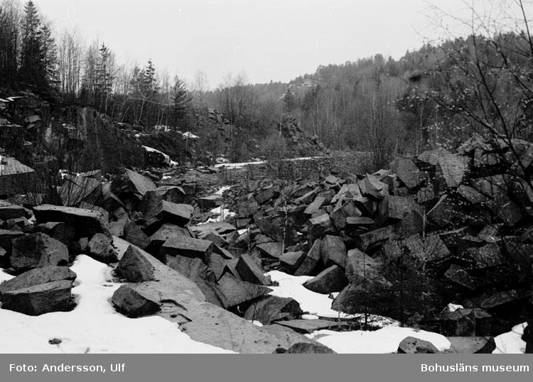 """Bohusläns samhälls- och näringsliv. 2. STENINDUSTRIN. Film: 16  Text som medföljde bilden: """"Detaljbilder: Dalarna. April 1977."""""""