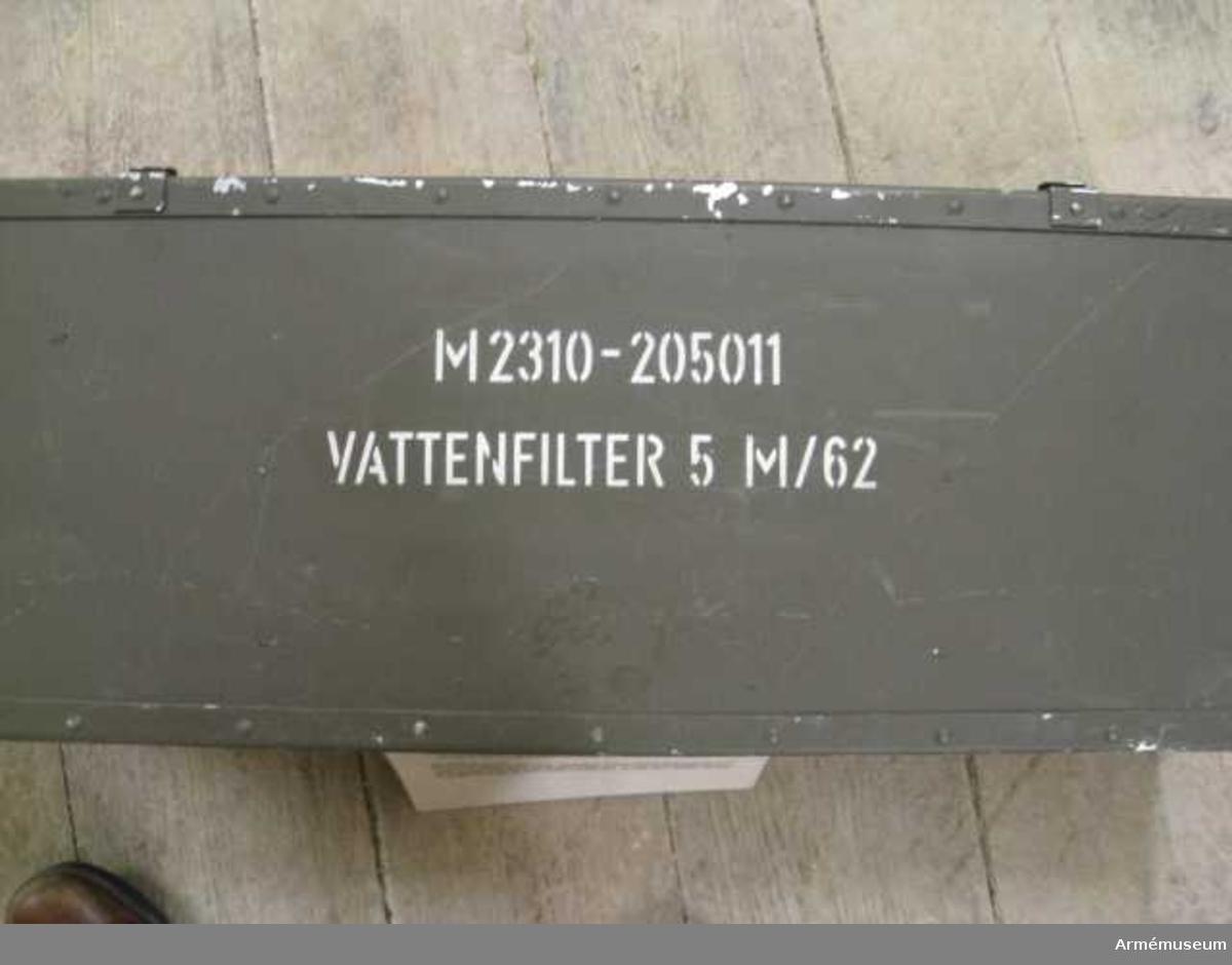 Vattenfilter 5 m/1962
