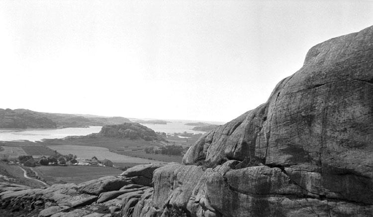 Enligt senare noteringar: Utsikt från Bottna, Veddeberg. 11 Augusti 1919.