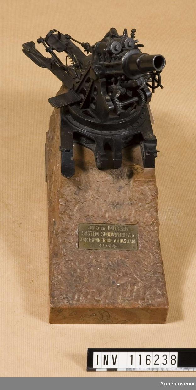 Modell av 30,5 cm mörsare