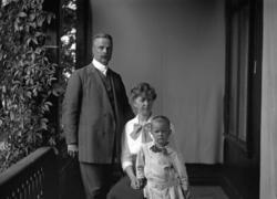 Familjen Möller på Gustafsberg.