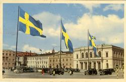Notering på kortet: Göteborg. Gustav Adolfs torg.