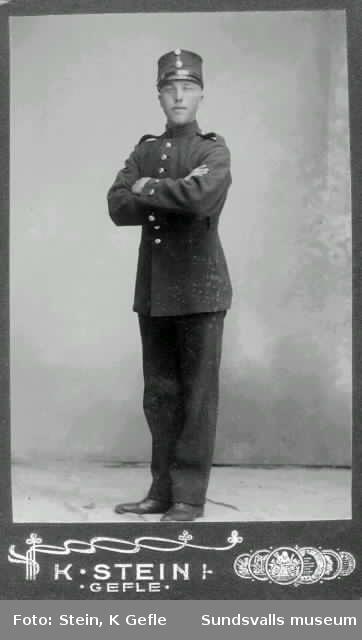 Troligen Emil Andersson som beväringssoldat i Gävle