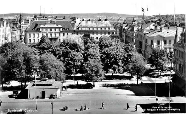 Vy från Stora Torget mot Vängåvan, Sundsvalls Centrum.