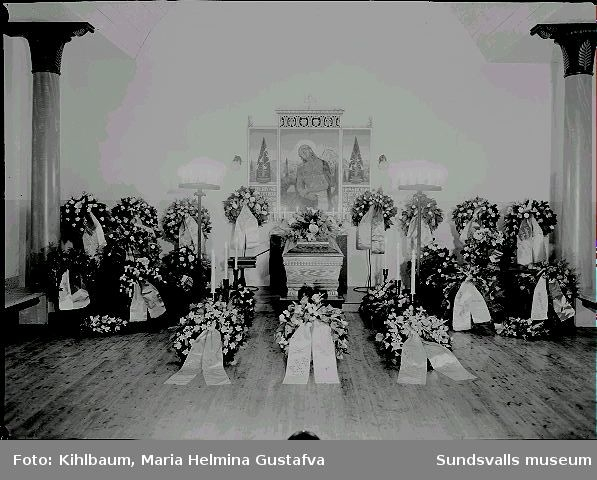 Begravning. Lotsen Åke Berg.