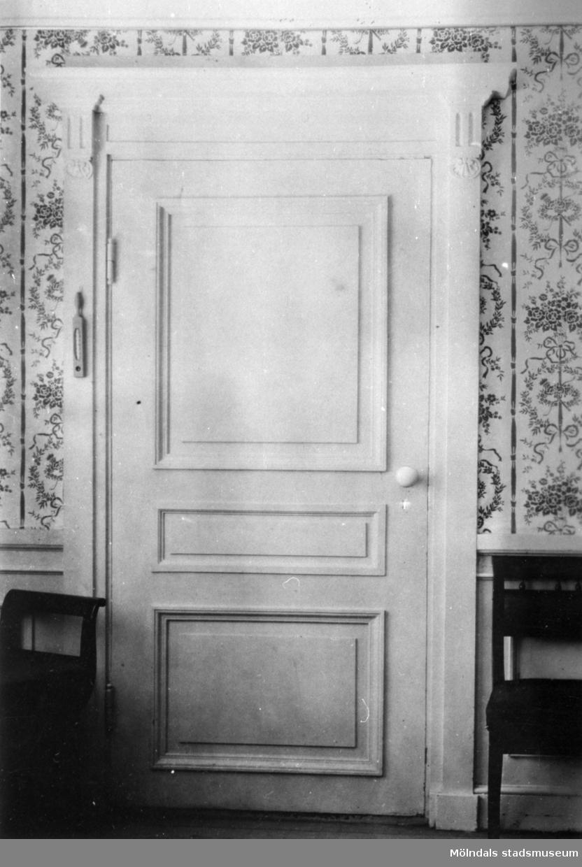 Förmak till gästrum på våning 3, Gunnebo slott cirka 1910.