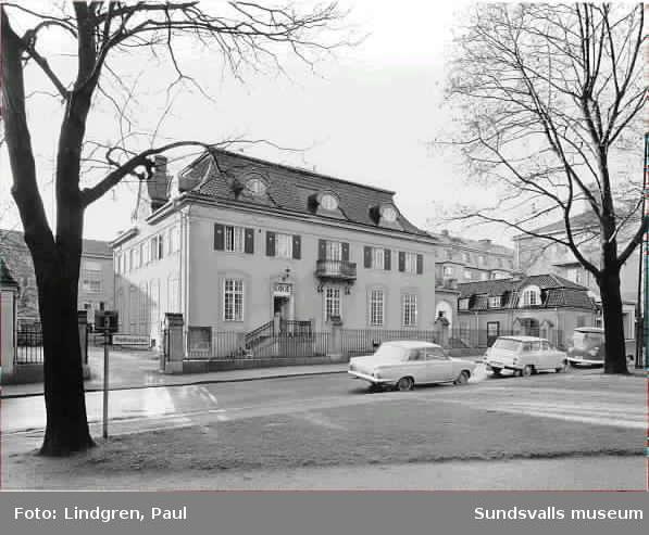 Sundsvalls Gustav Adolfsförsamlings hus. Rådhusgatan 35 Trädgårdsgatan 36, även kallat Port Arthur
