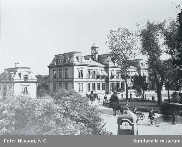 Sundsvalls järnvägsstation (den äldre) före 1925.