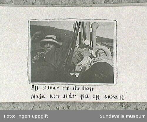 Amatörfotografiet från resa till Trondheimsommaren 1915. Båttur mot Rödhammer.