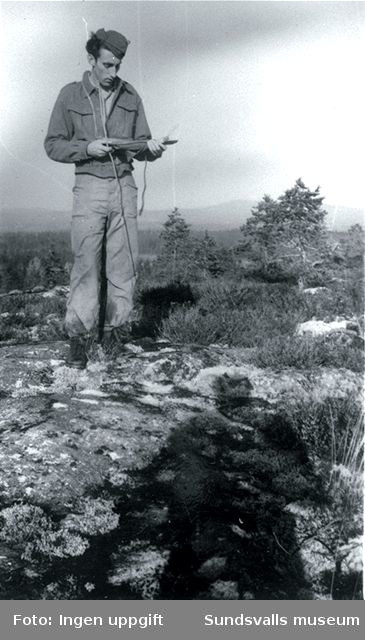 """""""Dette bilde er tatt under et orienteringslöp.""""  (Magnus Hovd, Mosby, augusti 1988)"""