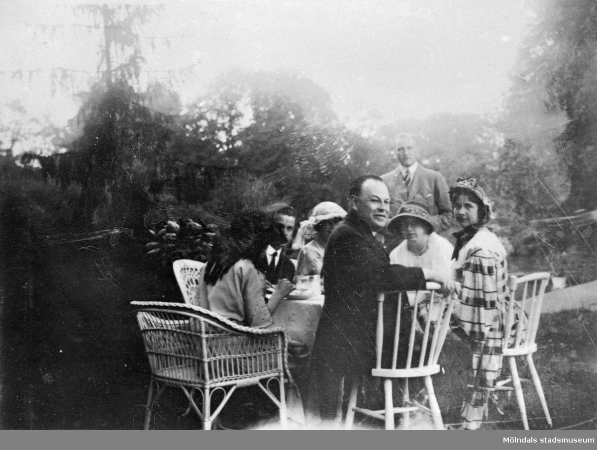 Museiförbund på besök, Gunnebo slott, 17 juli 1923.