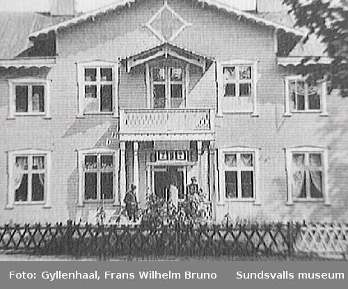 Herrgårdsbyggnaden tillhörande Stockviks sågverk.