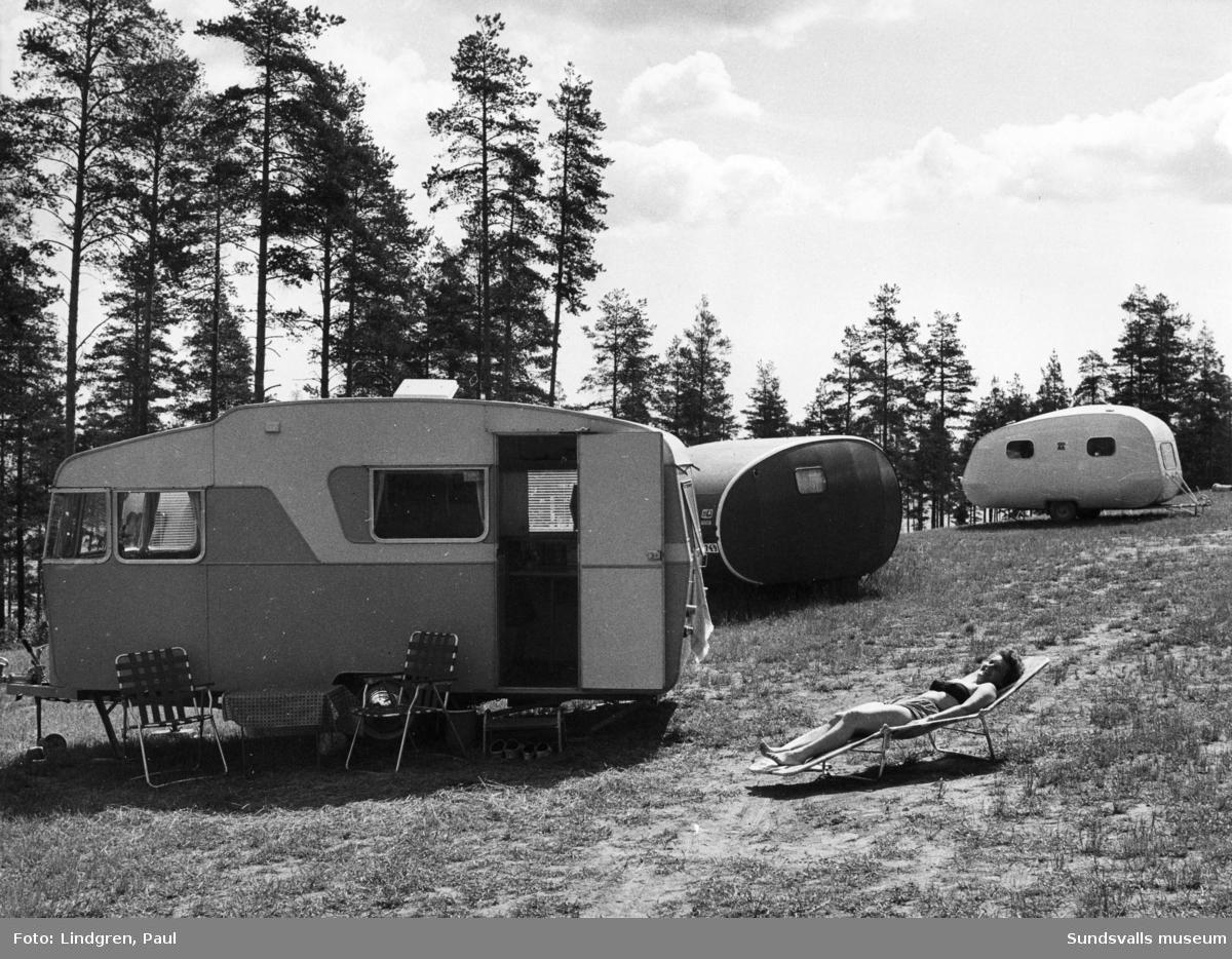 Husvagnar på ev. Fläsians campingplats.